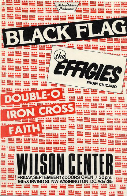 Black Flag-The Effigies-Double O-Iron Cross-The Faith @ Washington DC 9-17-81
