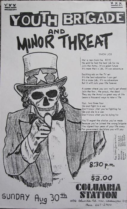 Youth Brigade-Minor Threat @ Washington DC 8-30-81