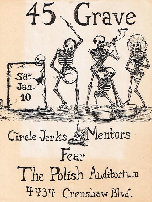 45 Grave-Circle Jerks-Mentors-Fear @ Los Angeles CA 1-10-81