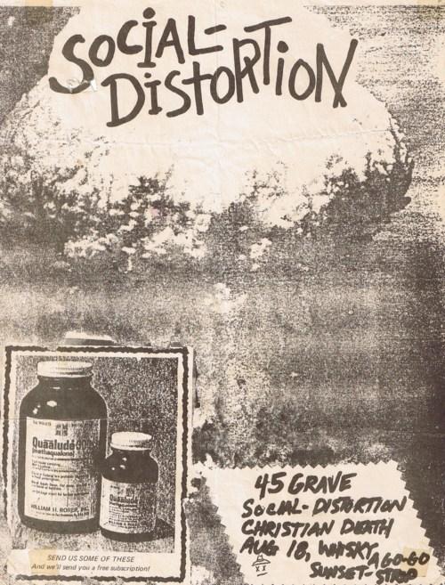 Social Distortion-45 Grave-Christian Death @ Hollywood CA 8-18-81