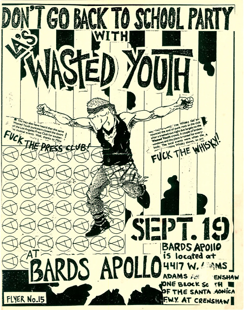 Wasted Youth @ Los Angeles CA 9-19-81