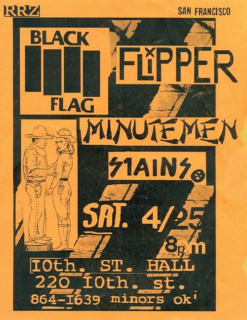 Black Flag-Flipper-Minutemen-Stains @ San Francisco CA 4-25-81