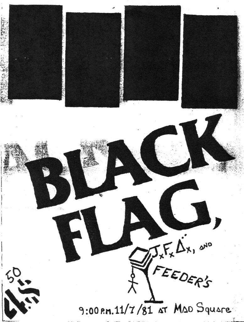 Black Flag-The Feederz-JFA @ Phoenix AZ 11-7-81