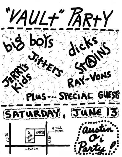 Big Boys-Jerry's Kids-The Dicks-Stains @ Austin TX 6-13-81