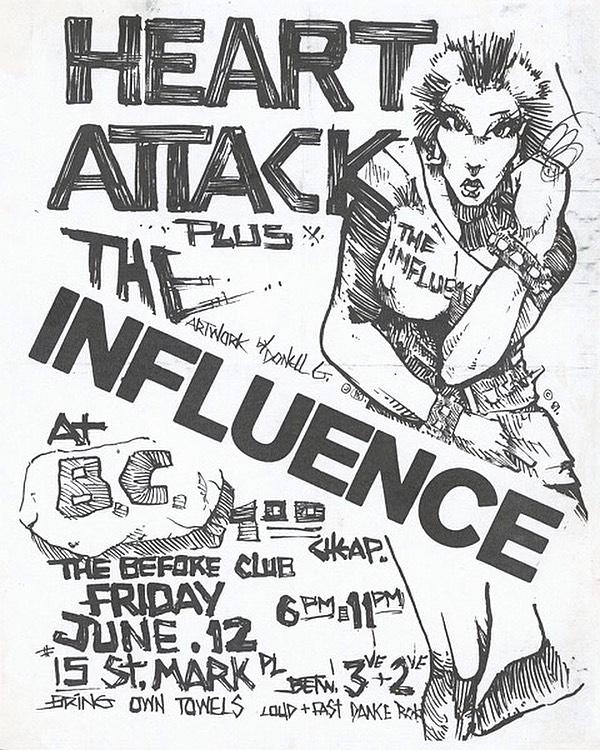 Heart Attack-The Influence @ New York City NY 6-12-81