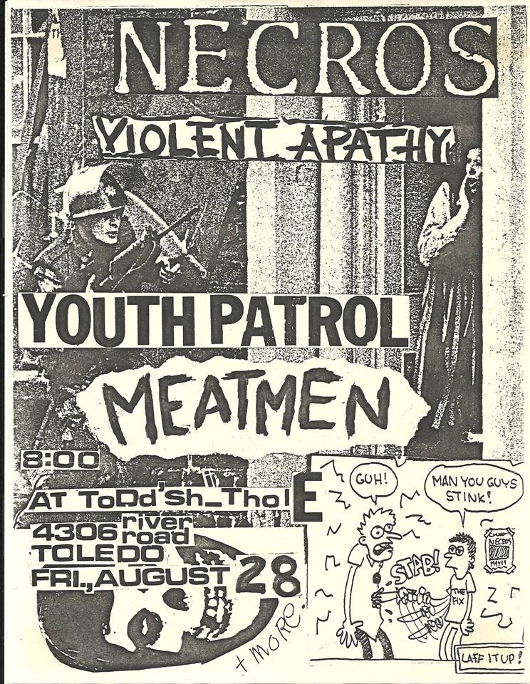 Necros-Violent Apathy-Youth Patrol-Meatmen @ Toledo OH 8-28-81