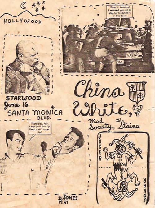 China White-Mad Society-Stains @ Santa Monica CA 6-16-81