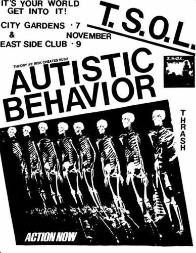 TSOL-Autistic Behavior @ New York City NY 11-9-81