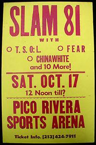 TSOL-Fear-China White @ Pico Rivera CA 10-17-81