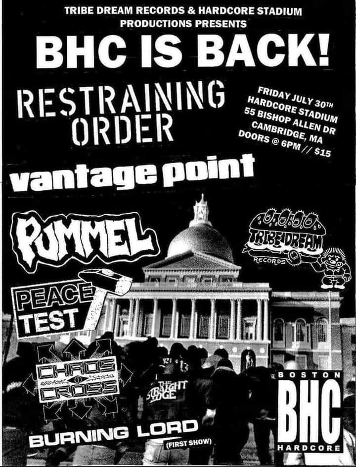 Restraining Order-Vantage Point-Pummel-Peace Test-Chros Cross-Burning Lord @ Cambridge MA 7-30-21