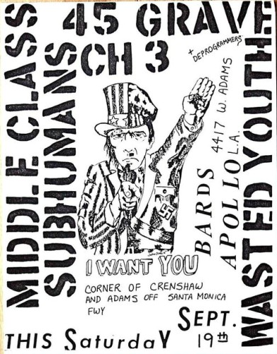 Middle Class-Subhumans-45 Grave-Channel 3-Wasted Youth @ Santa Monica CA 9-19-81