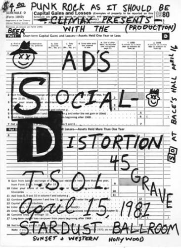 Social Distortion-45 Grave-TSOL @ Hollywood CA