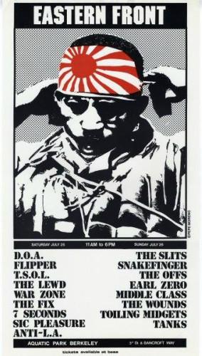 DOA-Flipper-TSOL-The Lewd-War Zone-The Fix-7 Seconds-Sick Pleasure @ Berkeley CA 7-29-81