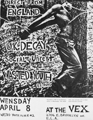 UK Decay-Social Unrest-Wasted Youth @ Los Angeles CA 4-8-81