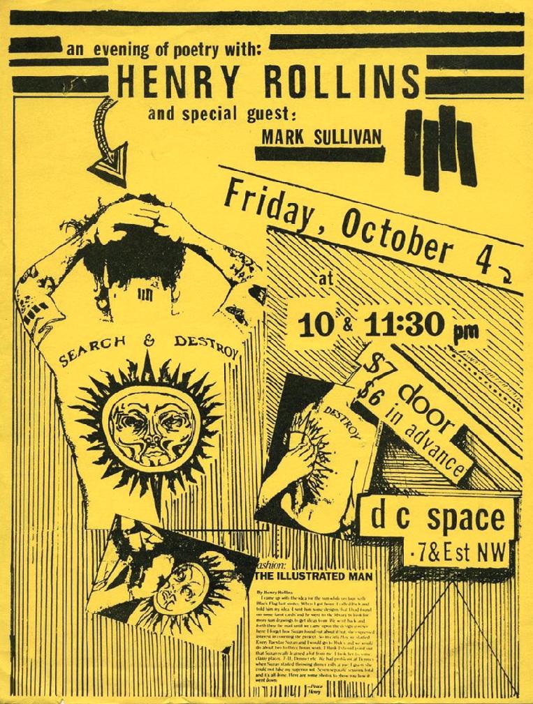 Henry Rollins @ Washington DC 10-4-91