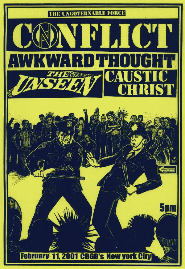 Conflict-Awkward Thought-The Unseen-Caustic Christ @ New York City NY 2-11-01